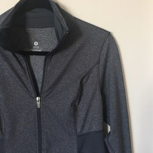 Navy blue fitted active jacket